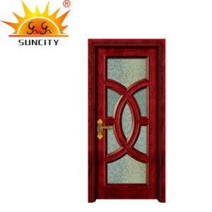 Portello interno di legno solido di disegno classico con la finestra
