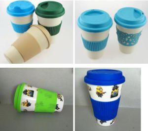 16oz a prueba de derrames de alimentación de la fábrica de fibra de bambú de la copa de café