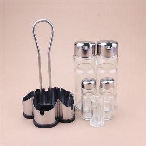 Pot de verre neuf morceau avec Rack de stockage pour les ustensiles de cuisine