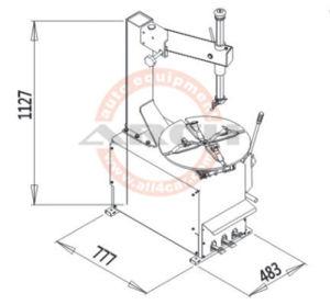 Cambiador de neumáticos Ce Auto cambiador de neumáticos (AAE-C100)