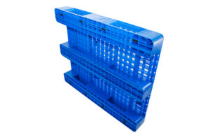 Depósito de lado único tabuleiro perfurado de HDPE para a indústria de paletes plásticos de rack