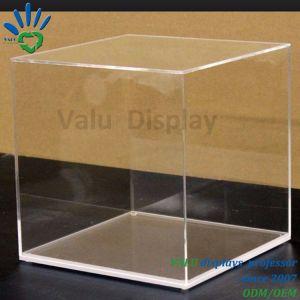 L'acrilico acrilico 6 del quadrato del banco di mostra del cubo ha parteggiato scatola di presentazione