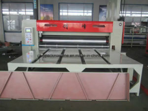 Semiautomática de color Printer Slotter 2Flexo Die Cutter máquina
