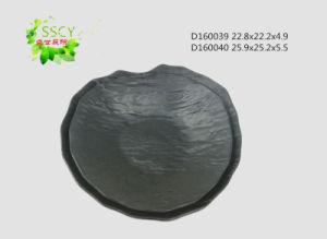 Feuille de Lotus Melanine forme Modèle de Pierre la plaque (D160039)