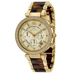 ステンレス鋼のめっきされたローズの金時計の新しいレディース・ウォッチ