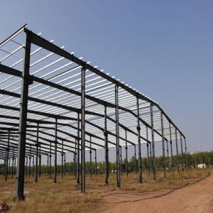 広いスパンの鋼鉄軽い鉄骨フレームの構築の構造の建物