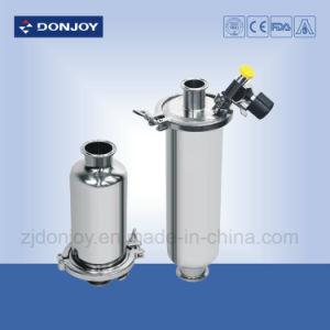Ss304/316L gesundheitlicher gerader Filter mit Kondensation-Wasser