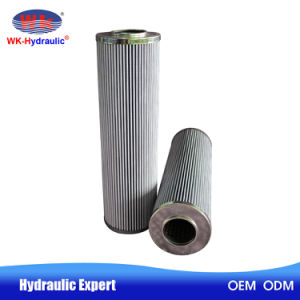 Support en fibre de verre plissé cartouche de filtre à huile hydraulique