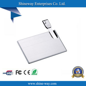 DIGITAL Printing Logoとの金属のBusiness Card USB Flash Drive