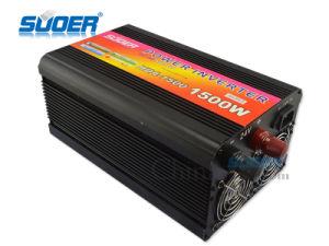 Suoer 1500W 24V 220V fuera de la red inversor de potencia con el cargador (HDA-1500D)
