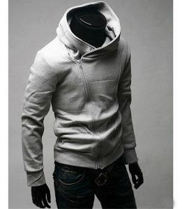 La moda de invierno de poliéster diseñado Collared suéter Zip