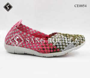 Las mujeres tejen Cansual moda Zapatos Zapatos con Suela de goma
