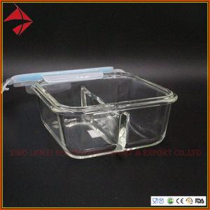 De vidro borossilicato quadrado hermeticamente o recipiente de alimentos Caixas de armazenamento com o SGS 2 recipiente para alimentar do habitáculo