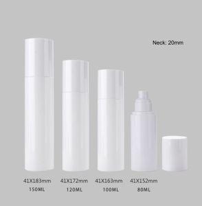 High-End 150ml 5 oz de bouteille en plastique, White Pet Flacon pulvérisateur de vérin avec le blanc fine brume & Overcap du pulvérisateur pour les cosmétiques