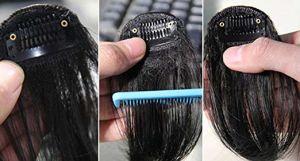 Tela plana de ar bate para senhoras de cabelo humano limpa e arrumada dentro Curl Cor Natural um clipe