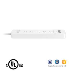 OEM 5 Outlets Smart Multi-Function Us Power Strip com 3 portas USB para celulares