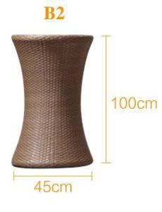 3 части мебели ротанга PE цветочного горшка ротанга установленной