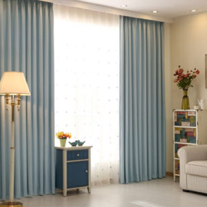 Luxo estilo europeu a cortina da janela de blecaute sólido de poliéster (01F0001)