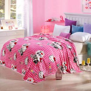 Flanella del poliestere di alta qualità/tessuto di corallo del panno morbido per la coperta, i vestiti del bambino e l'accappatoio (SR-F170318-1)