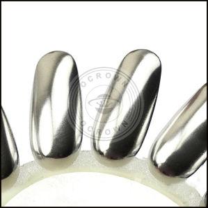 Серебристый металлик наружного зеркала заднего вида золота порошок Chrome пигмент лак для ногтей гелем польский
