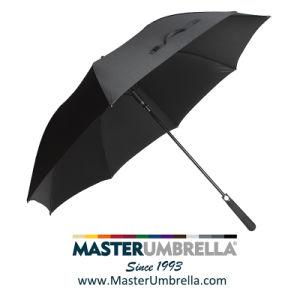 Abrir automático Pongee Lluvia/plegado PARAGUAS paraguas regalo al aire libre de Sun/personalizadas paraguas de Golf de promoción y publicidad en línea recta de aluminio Windproof paraguas (TKET-1117)