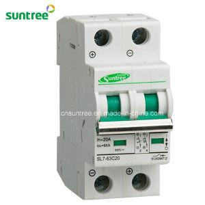 Disjuntor DC Suntree MCB DC 2pole de 4 pinos 16A 32A