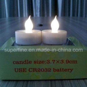 Batteriebetriebene flammenlose Kirche-dekorativer Pfosten LED künstliches Tealights