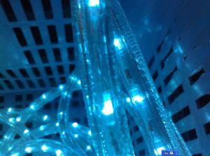 2 LED de color azul de alambre redondo de la luz de la cuerda
