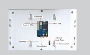 syst me d 39 alarme gsm sans fil c bl pour la maison de la s curit es x6 syst me d 39 alarme gsm. Black Bedroom Furniture Sets. Home Design Ideas