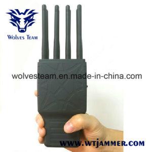 8 bandas de mano de todos los teléfono móvil y WiFi, Lojack Jammer la señal de GPS