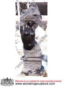 抽象彫刻(SK-2431)の屋外の石造りの噴水