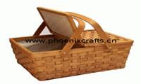 Cestini esterni di memoria dell'alimento dei cestini di Picinic del cestino di legno