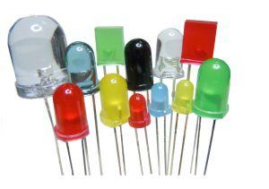 Cor amarelo verde azul vermelho 3mm a 5 mm 8 mm 10mm LED redondos médios Radial