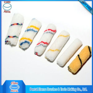 Serie Mini rodillo de acrílico de cubiertas con tiras de color azul y rojo