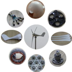 Sistema de generador trifásico de turbina de viento de 100W 12V/24V para la venta