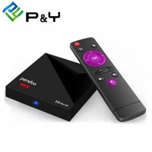 人間の特徴をもつTVボックスPendoo 1080P 4KデジタルTVの受信機の人間の特徴をもつスマートセットの上ボックスが付いている小型Rk3328 1g 8gのアンドロイド7.1のインターネットTVボックス