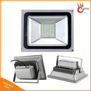 A iluminação externa LED Security Holofote Solar com 20/10/30/50W para jardim relvado luz de rua de post