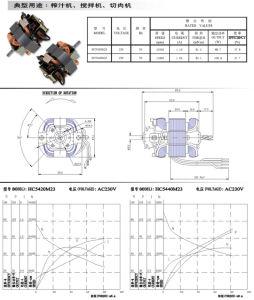 RoHS/Aprobación Ce Motor universal para la batidora eléctrica