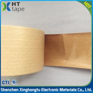 Kraft reforzado marrón húmedo de agua cinta de papel para el sellado de cajas de cartón