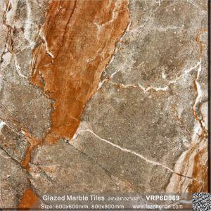 Tegel van de Muur van de Bevloering van het Porselein van het Bouwmateriaal de Verglaasde Marmer Opgepoetste (600X600mm, VRP6D060)