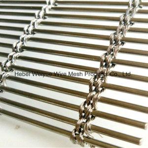 Wire Mesh tissé architectural en métal pour les façades de maille de revêtement