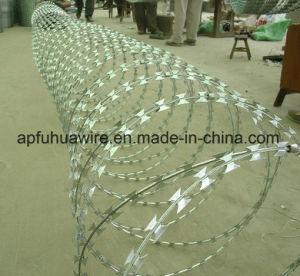 Galvanizado en caliente de Bto-22 Concertina militar de alambre de navaja