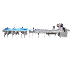 La línea de máquinas de embalaje automático de ajuste de torta de forma cuadrada