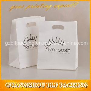Белый крафт-магазинов бумажный мешок с косметическим для тиснение (emboss) логотип