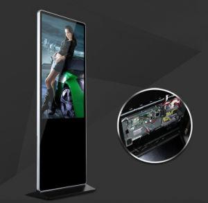 Sol intérieur 42 pouces LCD permanent de la publicité vidéo Le lecteur multimédia de réseau plein écran LED de couleur, la signalisation numérique multimédia