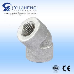 Codo de 45 grados de alta presión de acero inoxidable