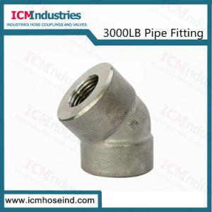 3000 lb do tubo de aço inoxidável de alta pressão o cotovelo de montagem 45
