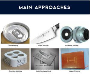 티타늄 반지를 위한 20W/30W/40W CNC Laser 표하기 기계