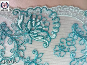 Multi-Color imagen 3D de encaje bordado de flores para accesorios de lenceria