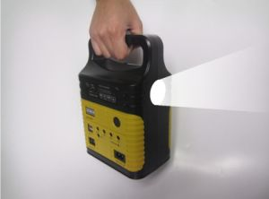 Las luces de Casa Solar portátil Minisistema solar 10W Lámpara Solar con radio FM Player Sre-1006